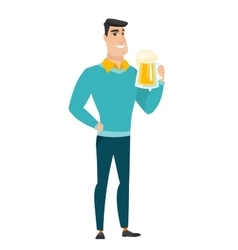 Businessman drinking beer vector