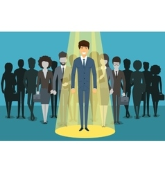 Businessman in spotlight Human resource vector image