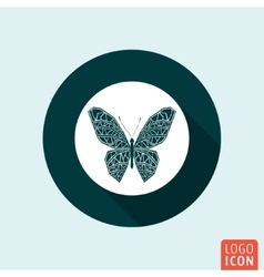 Butterfly icon isolated vector image