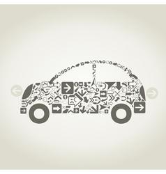 Car arrow vector image