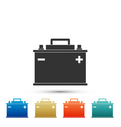 car battery icon accumulator battery energy vector image
