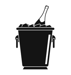 champagne ice bucket icon simple style vector image