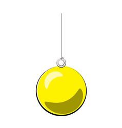 christmas ball yellow cartoon vector image