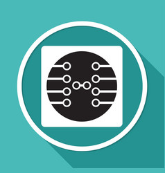 circuit board technology icon vector image