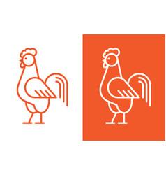 cock linear logo vector image