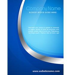 Company magazine cover vector
