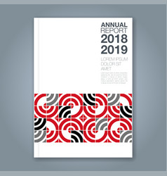 Cover annual report 829 vector