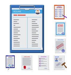 Design of form and document sign vector