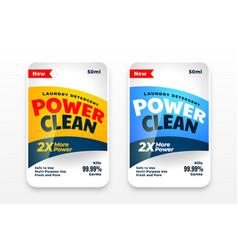 Detergent or disinfectant cleaner labels set vector