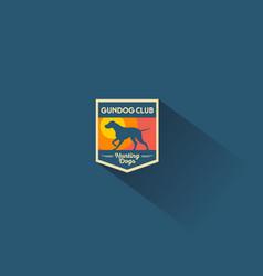 Dog club emblem vector