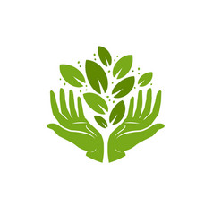Ecology logo environment nature natural symbol vector