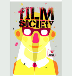 film society poster grunge vector image