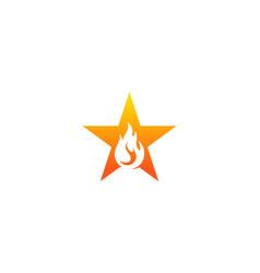 fire star logo icon design vector image