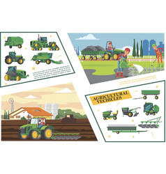 flat agriculture and farming composition vector image