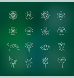 Flower outline icon vector