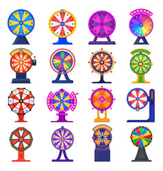 fortune wheel casino game jackpot lucky wheels vector image