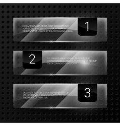 Glass banners set vector image
