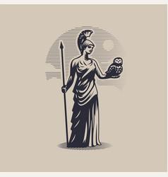 Goddess athena or minerva vector