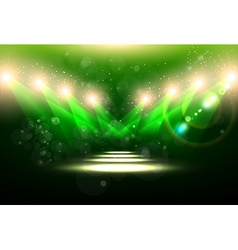 Green Spotlight Background vector
