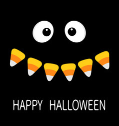 Happy halloween scary face smiling emotions big vector
