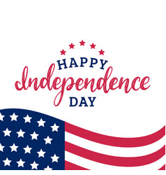 Happy independence day united states america vector