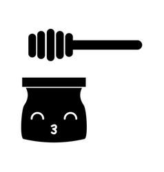 Honey stick kawaii character vector