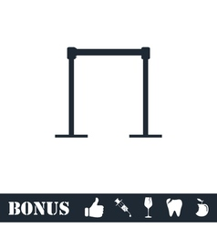 Horizontal bar icon flat vector