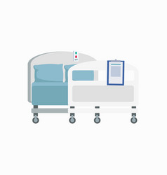 Hospital wheeled bed icon vector
