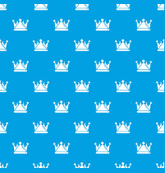 Kievan rus crown pattern seamless blue vector