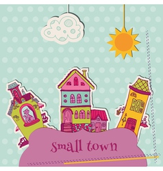 Little Town Scrap vector image