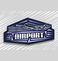 Logo for airport vector