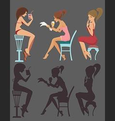 lovely girls vector image