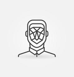 man face detection linear icon concept vector image