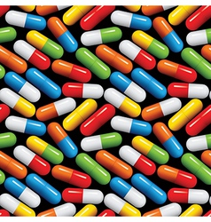 Medical pills seamless pattern vector image