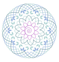 minimalist floral mandala vector image