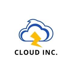 Modern minimalistic cloud logo vector