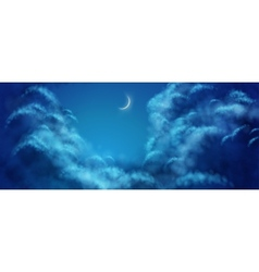 Nightly Clouds vector image