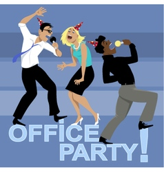 Office party invitation vector