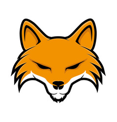 Orange fox sign vector