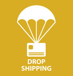 parachute drop shipping vector image