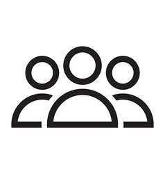 people icon set vector image