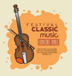 Poster festival classic music icon vector