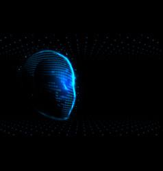 realistic 3d man head artificial intelligence ai vector image
