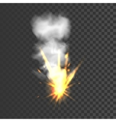 Realistic explosion sign vector