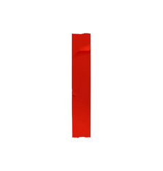 red adhesive tape vector image