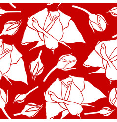 roses pattern seamless vector image