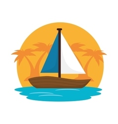 sailboat travel isolated icon vector image