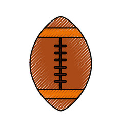 Scribble american football ball cartoon vector