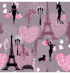 Seamless pattern - Effel Tower vector image