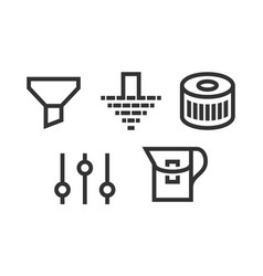set filter icons vector image